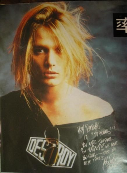 Glam on the Rocks, Ultra-sexy Sebastian Bach photo autographed