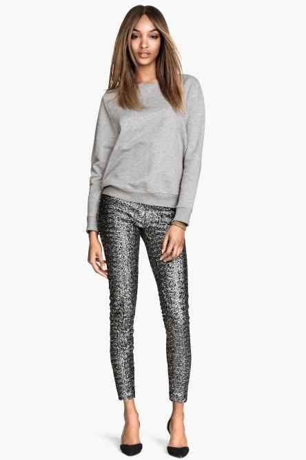 Pantaloni con paillettes