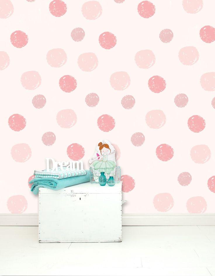 Dromen komen tot leven dots behang. Interieurstyling Ideeën voor de #baby, #peuter of #kleuter #slaapkamer