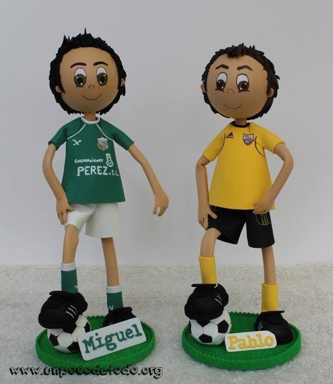 www.unpocodetodo.org - Fofuchos futbolistas de Miguel y Pablo - Fofuchas - Goma eva - crafts - custom - customized - deportes - foamy - football - futbol - manualidades - soccer - sports - 1
