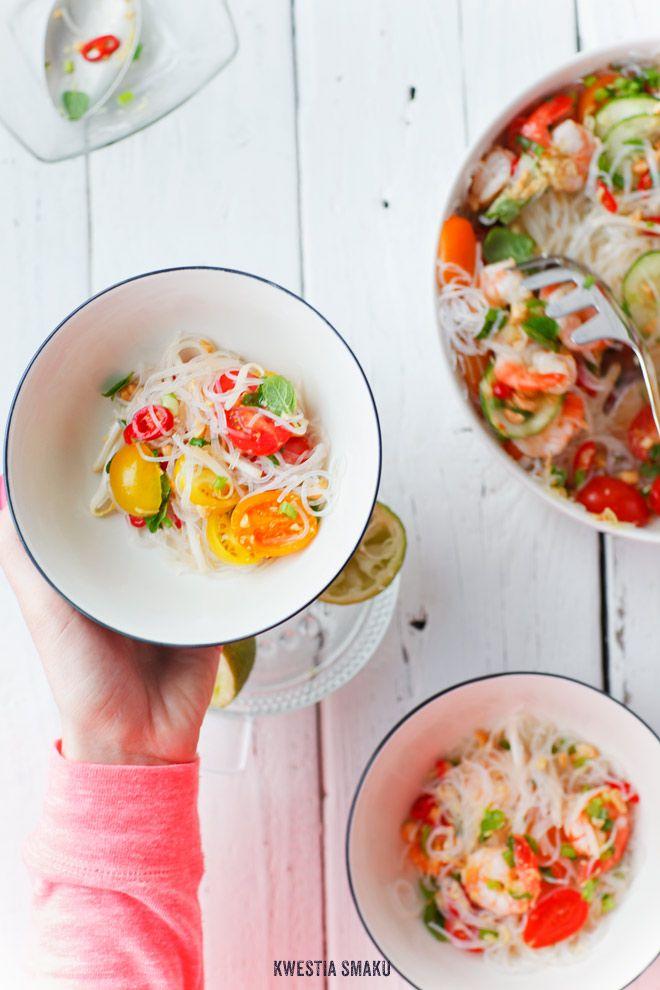 Tajska sałatka z krewetkami - Przepis