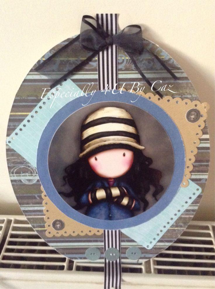 Made using circular postcard