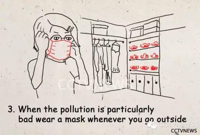 【画像】北京市の大気汚染から生き残るためのマンガが公開される