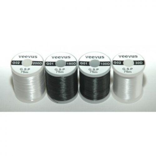 Veevus GSP Thread (Dyneema) -  Three sizes available. 30 Denier (thinnest) 100 Denier (Great allrounder) 150 Denier (Saltwater and Deerhair)