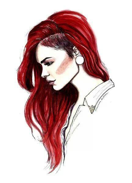 Sidecut, red hair