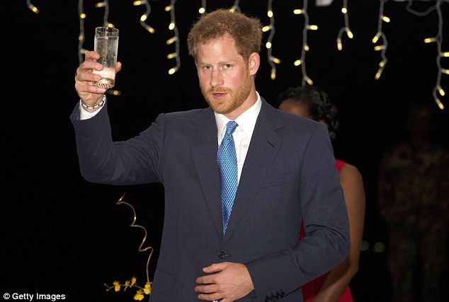 Speaking at a hotel in the Grenadan capital St George's on Monday night, Harry said: 'This has been another memorable and inspiring day on this wonderful tour'