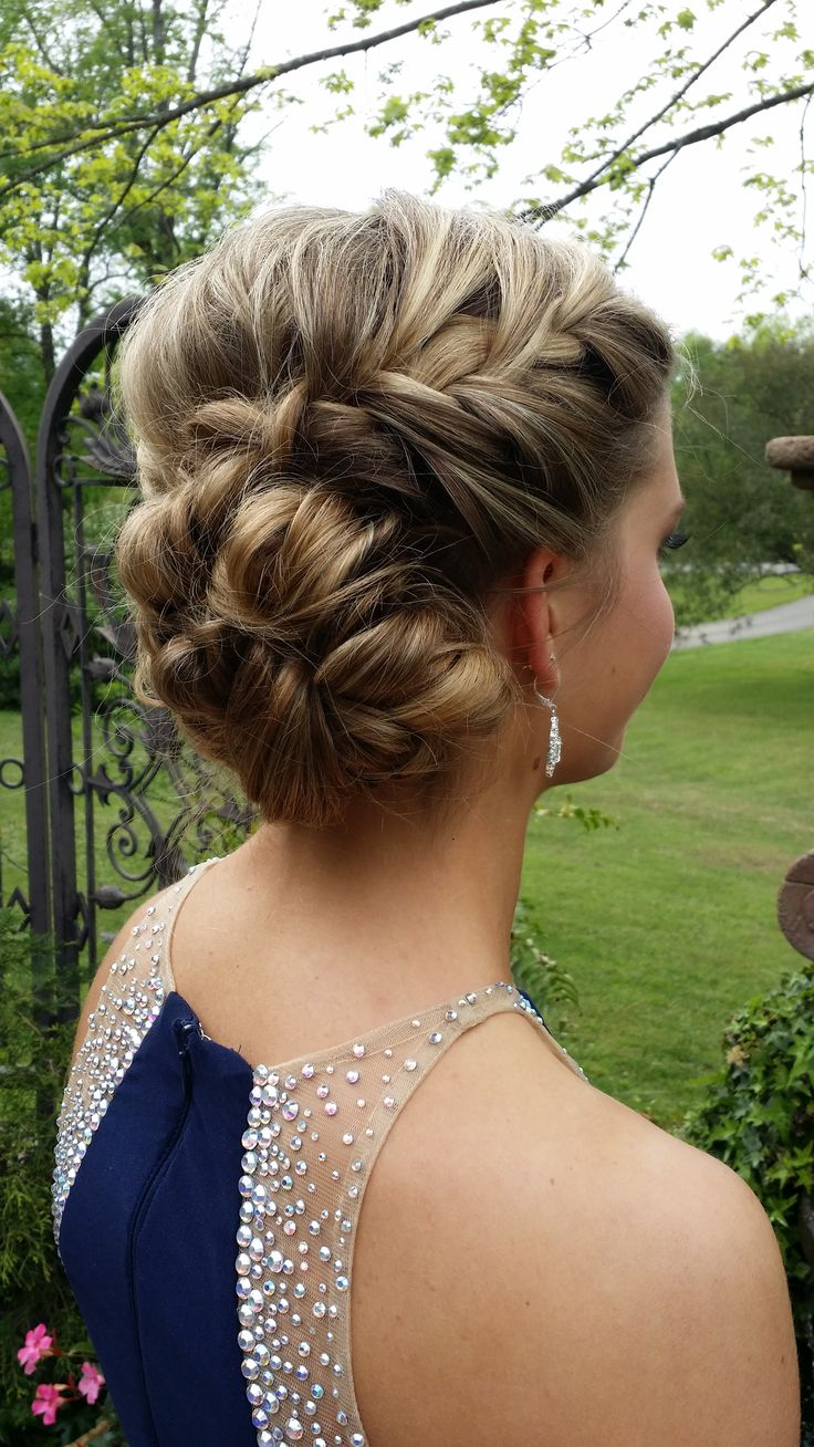 spanish wave weave hairstyles : Beautiful updo using both french and fishtail braids by Southern Belle ...