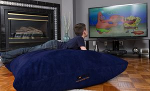 Oversized bean bags with machine-washable covers are perfect for gaming rooms, kids' bedrooms, or hangout spaces