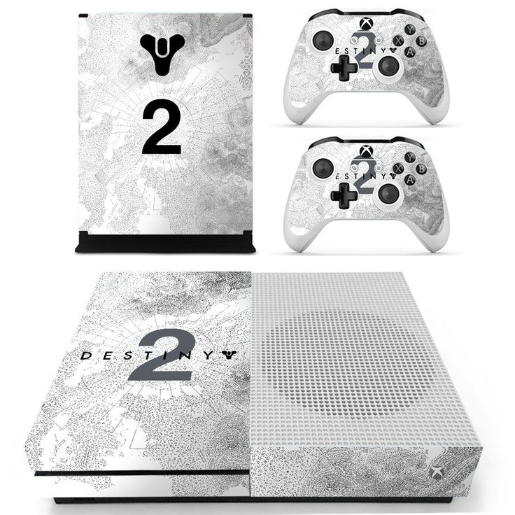 Destiny 2 skin decal for xbox one S console and 2 controllers