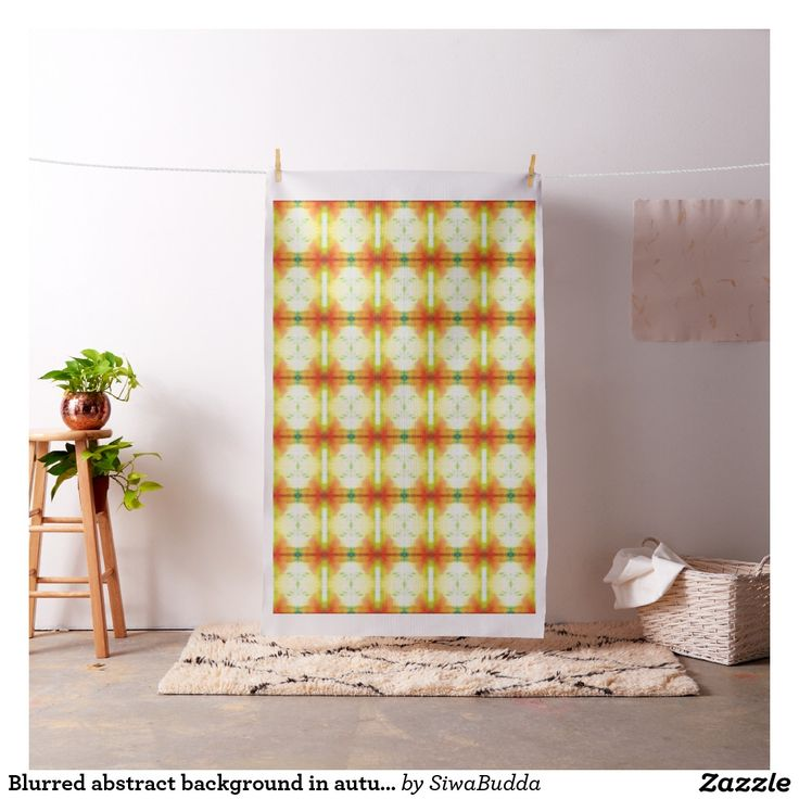 Blurred abstract background in autumn colors fabric