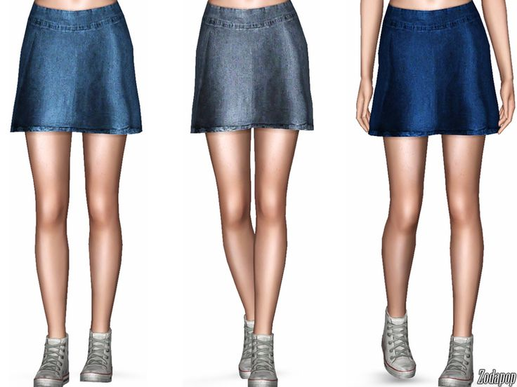 zodapop's Denim Mini Skirt   The Sims stuff