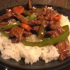 Foto recept: Biefstuk uit de wok met groenten