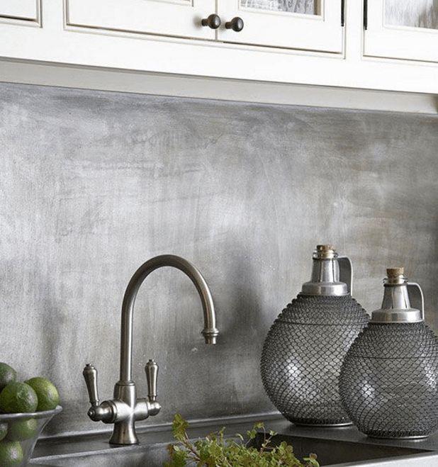 Brushed Stainless Steel Kitchen Splashback