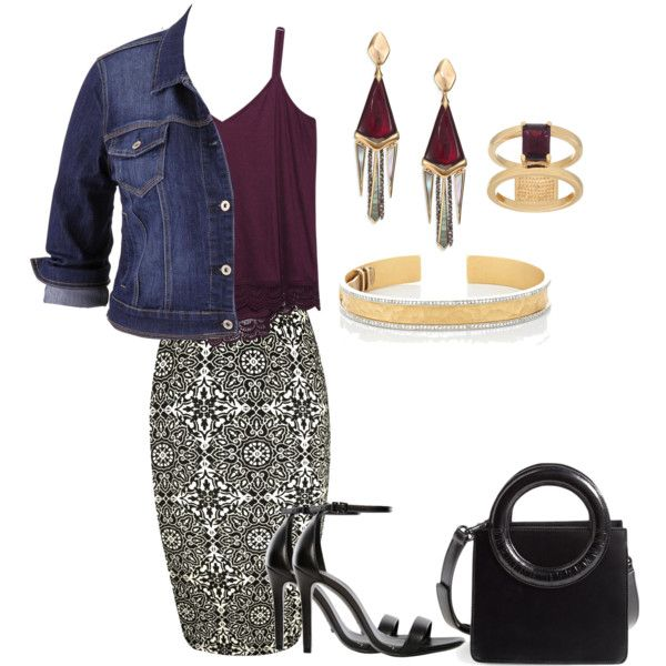 Busy Day by classyapple on Polyvore featuring Wet Seal, maurices, WearAll, Schutz, Opening Ceremony, Alexis Bittar, Cathy Waterman and QVC