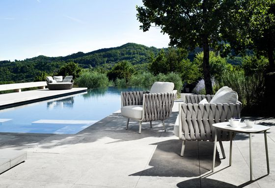 Relaxing outdoor armchairs