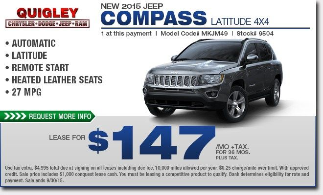 Best Jeep Compass Lease Price
