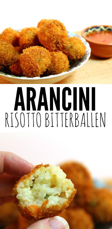 Arancini zijn eigenlijk gewoon risotto bitterballen! Onwijs simpel om te maken maar superlekker!