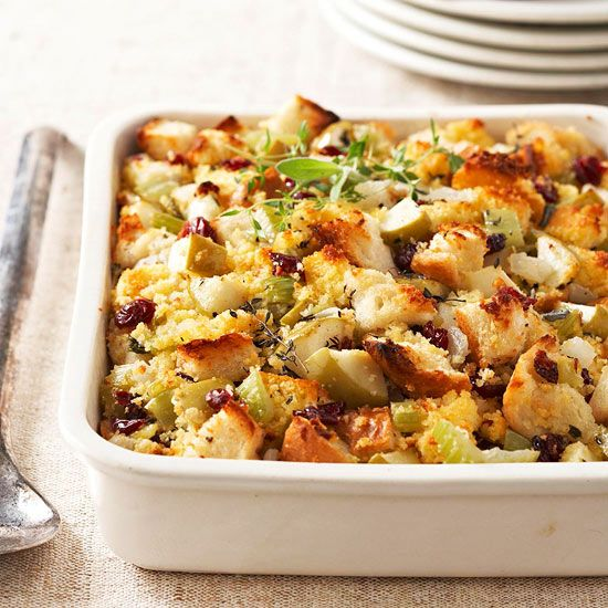 savory Cranberry-Apple Corn Bread Stuffing this year! More stuffing ...