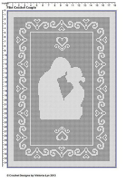 Ravelry: Filet crochet Couple-1 pattern by Vikki Albano aka Viktoria-Lyn