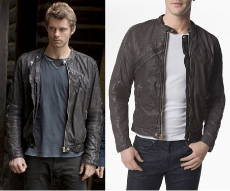 John Young (Luke Mitchell) wears a Diesel Lumi Leather Jacket in ...