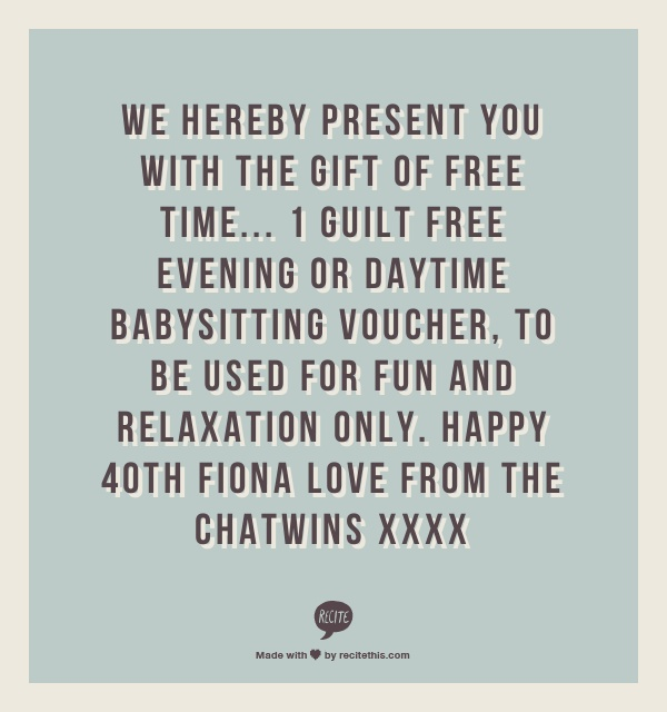 Printable Babysitting Coupons - Free Baby Sitting Voucher - create a voucher