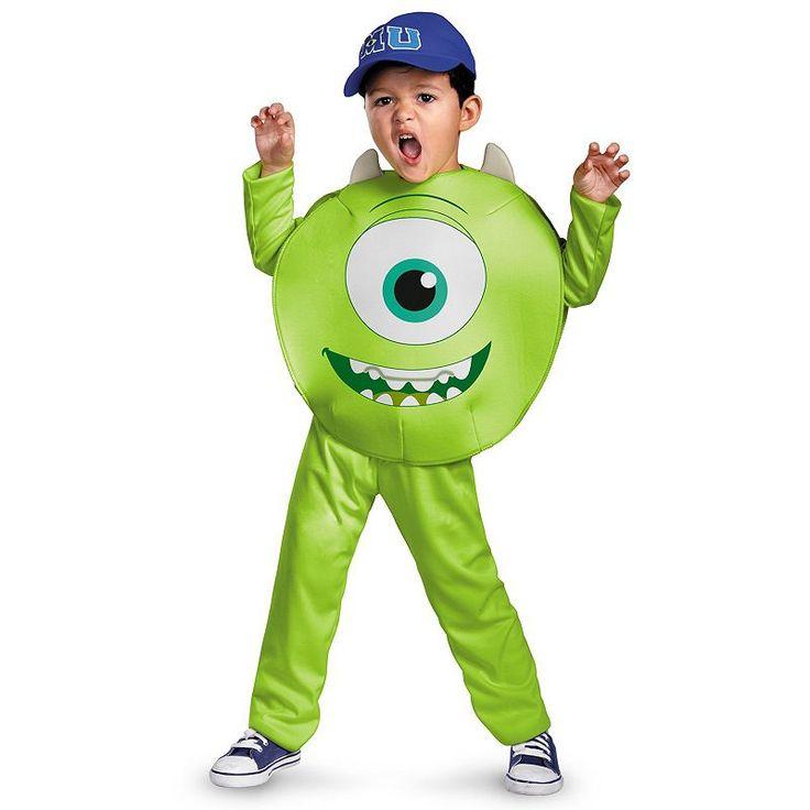 Disney / Pixar Monsters University Mike Classic Costume - Toddler/Kids, Kids Unisex, Size: Small, Green