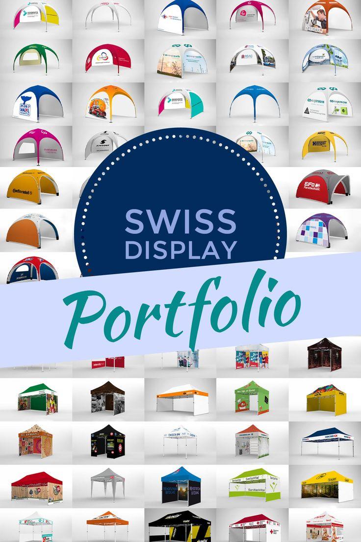 Swiss Display - Dein Fachhänder für Faltpavillons. Egal ob klassisch, rund, oder aufblasbar, wir produzieren dir deinen individuell bedrucken Firmenpavillon für deine nächste Promotion Tour.