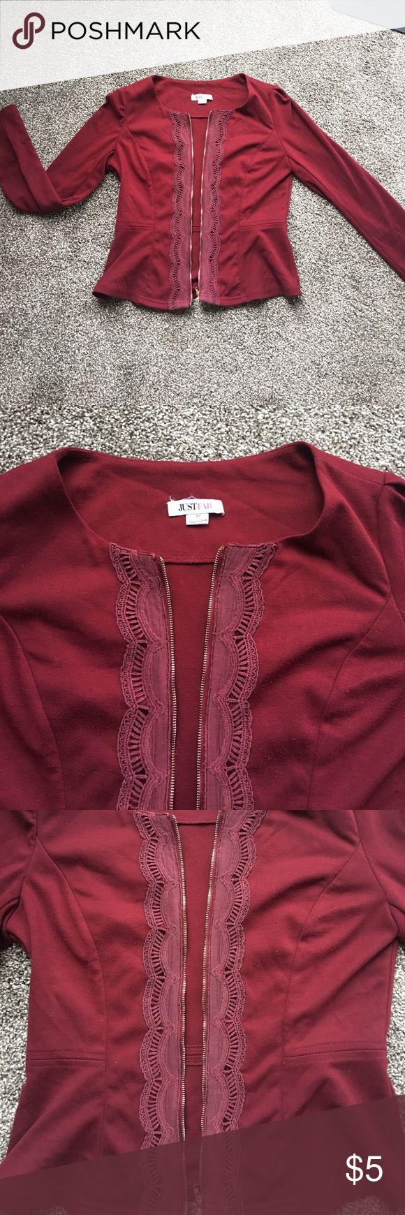 Maroon blazer Used. From JustFab. Size medium but fits like a small JustFab Jackets & Coats Blazers