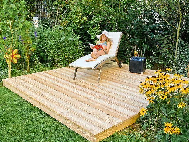 Podest Aus Holz Im Garten Bauen Holz Im Garten Selber Bauen Garten Holz Terrasse Bauen