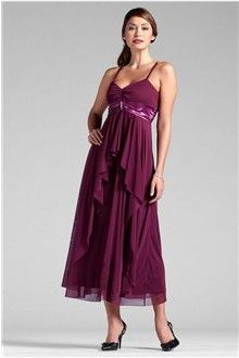 A-Line/Princess V-neck Spaghetti Straps Ankle-length Chiffon Mother of the Bride Dress
