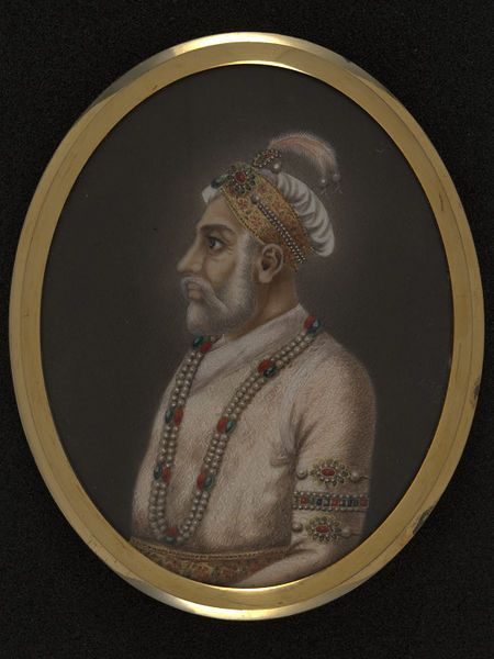 Delhi, India (made)  Date: ca. 1850.  This painting depicts Bahadur Shah I (1707-12).