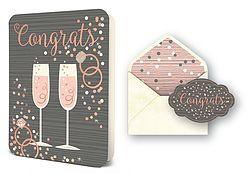 Congrats Champagne Flutes ©Elizabeth Silver for Studio Oh