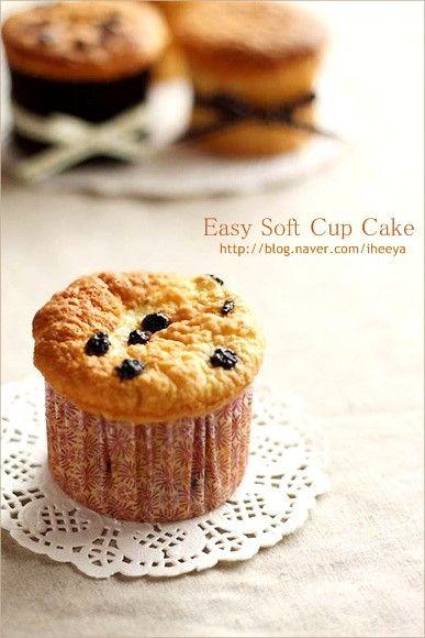 생크림을 이용해서 쉽게 만드는.. 폭신폭신 카스테라 식감의 부드러운 시몬 컵 케이크~♥ 소프트 시몬 컵케...