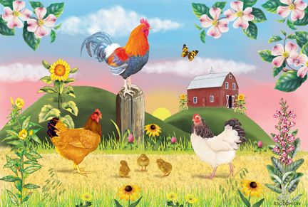 Rooster Farm. by Rosiland Solomon