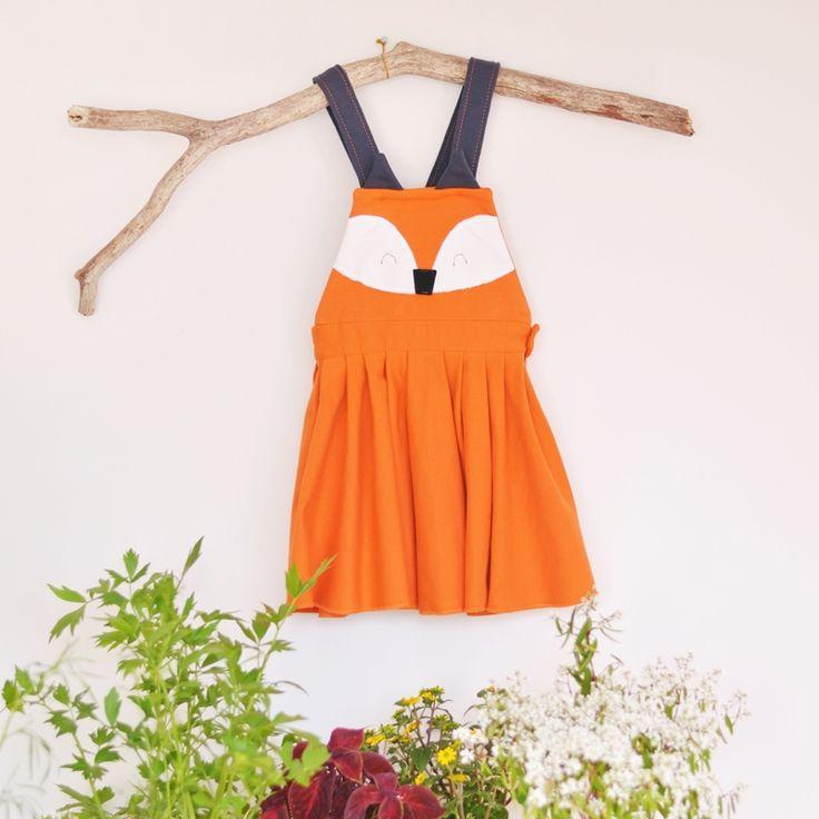 Sklep internetowy Lady Stump   Sukienka z szelkami Lis #fox #dress #foxdress #handmadedress