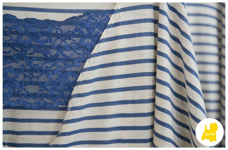 Favorite marine stripes with lace from #Spooly new collection! © Vicky Lafazani