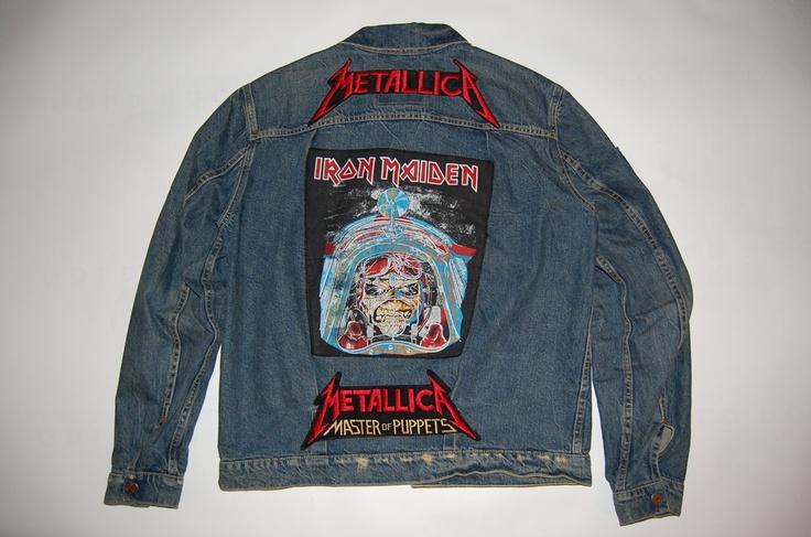 Otto S Bodega Iron Maiden Denim Jacket Throwback