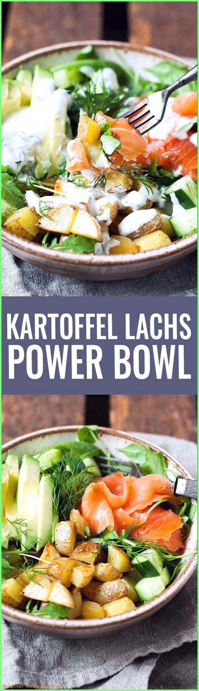 Buddha Bowl Rezepte: Kartoffel Lachs Power Bowl mit Avocado – Kochkarussell.com  #BuddhaBowlR…