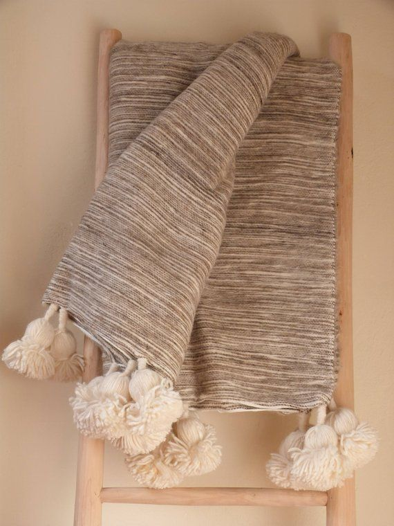 1cc1f5989 moroccan pom pom blankets, throw blankets,bed spread,pom pom throw ...