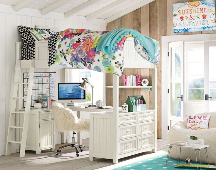 Teenage Girl Bedroom Ideas | Cozy Loft Bedroom | PBteen