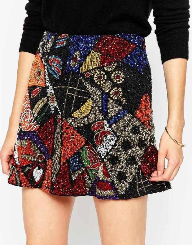 Mini φούστα με παγιέτες