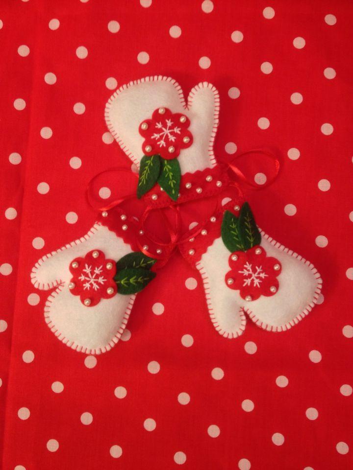 Christmas ornaments - white gloves