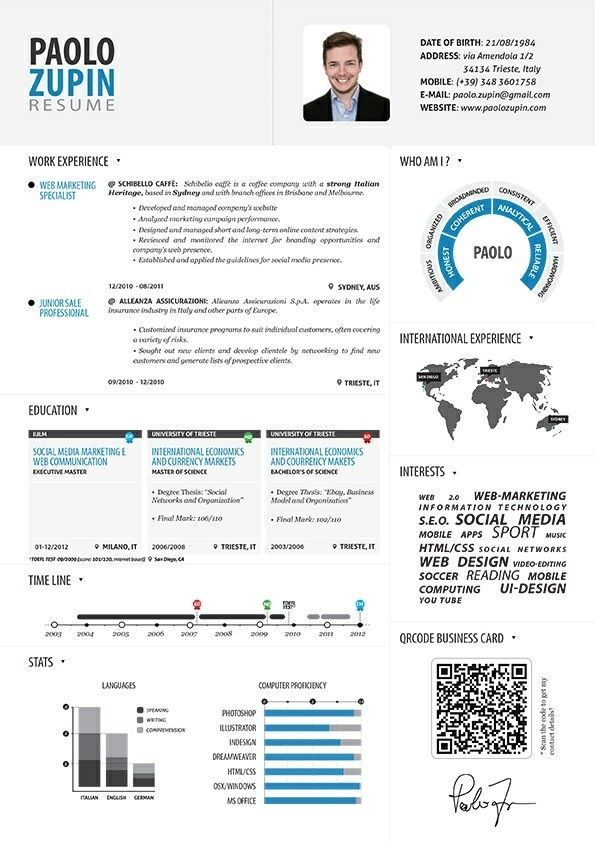 168 best Creative CV Inspiration images on Pinterest Projects - single page resume