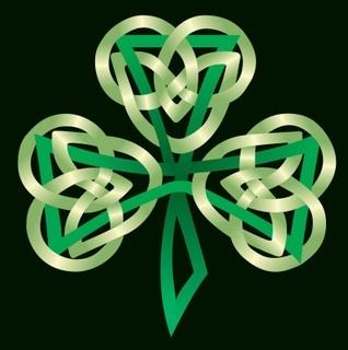 Celtic clover tattoo.