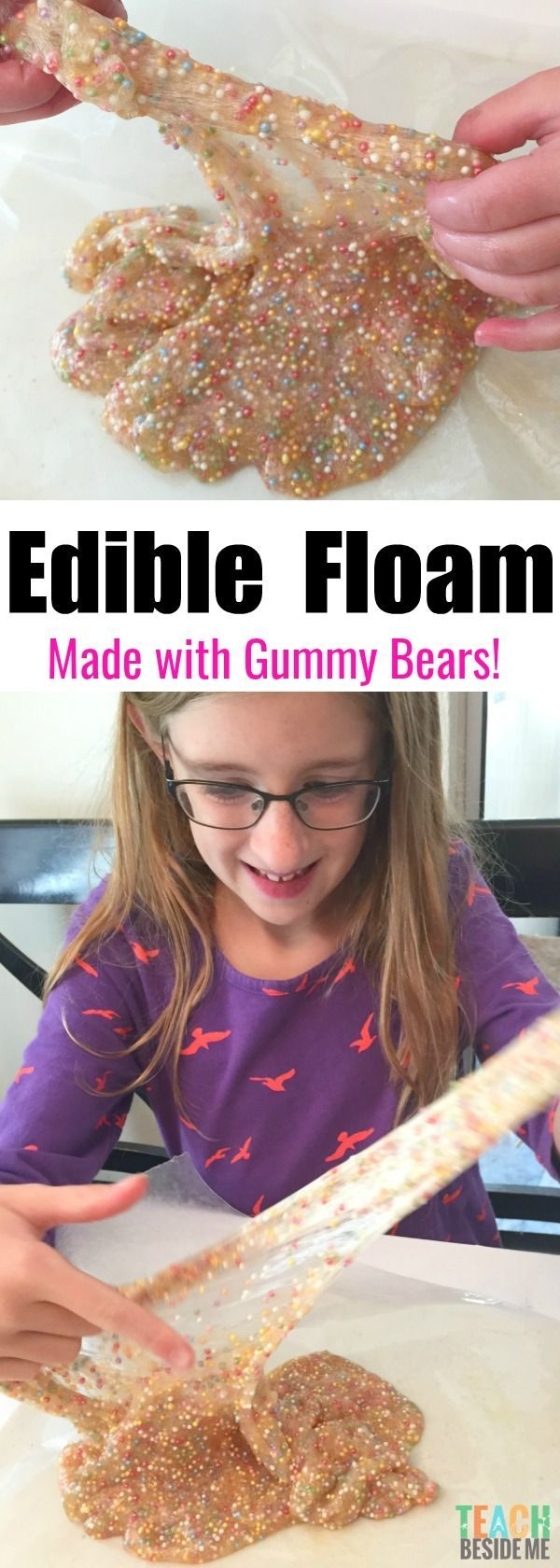 Edible Gummy Bear Floam - best edible slime ever!!