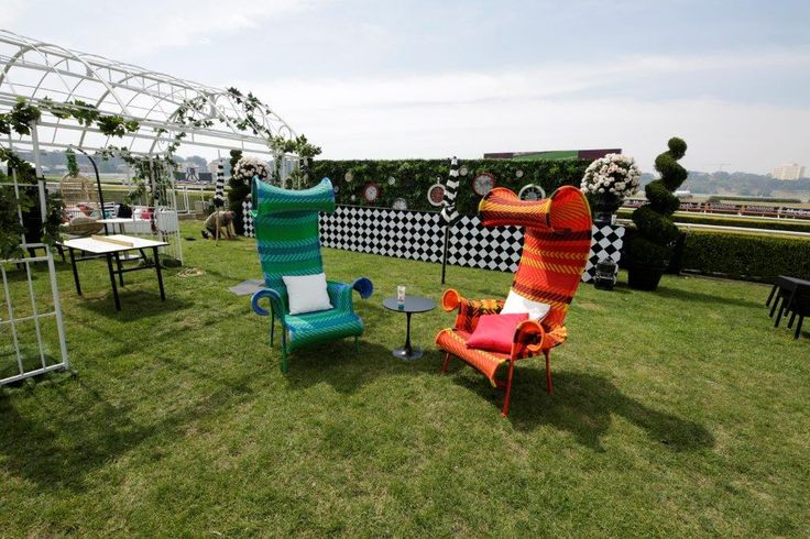 mad hatter, cool chairs, topsy turvy, garden party, quirky furniture, outdoor furniture