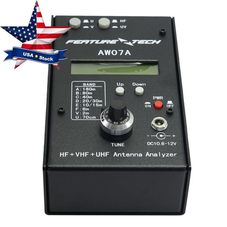 >> Click to Buy << HF VHF UHF Impedance SWR Antenna Analyzer 160M AW07A for Ham Radio USA Stock #Affiliate