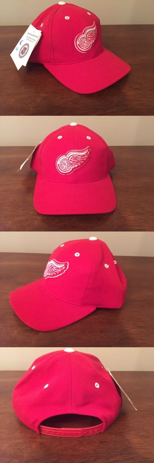 Hats and Headwear 159125: Vintage Detroit Red Wings Snap Back Hat Nhl Logo Athletic Cap Red White Nwt -> BUY IT NOW ONLY: $59.99 on eBay!