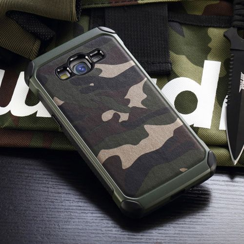 2 in 1 Hybrid Armor Army Camo Case Cover For Samsung Galaxy Grand Prime G530 G5308W Phone Case PC+TPU Back Cover