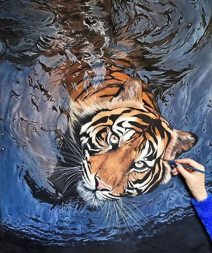 Tiger Animal Painting by Maryam Nayeb http://webneel.com/oil-painting | Design Inspiration http://webneel.com | Follow us www.pinterest.com/webneel